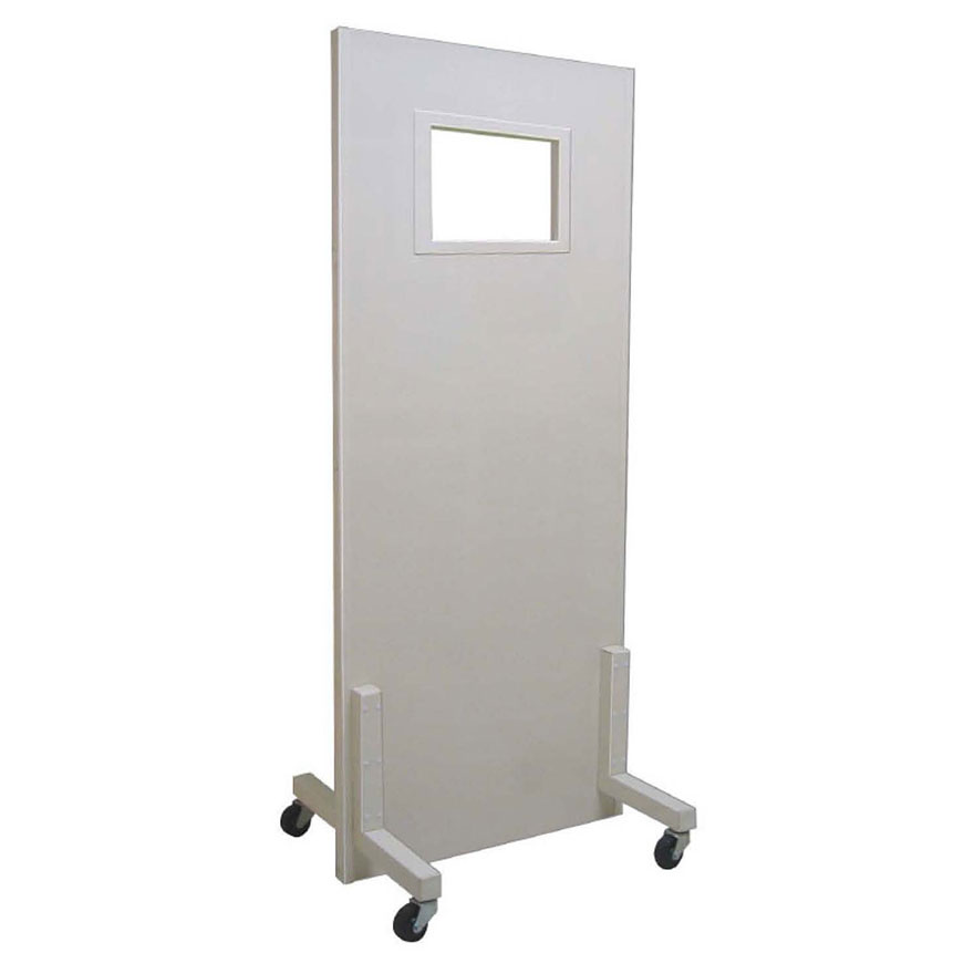 LEAD SHIELD LINEMobile, wall mount and stationary floor versions. Eight sizes. Large, lead glass window.