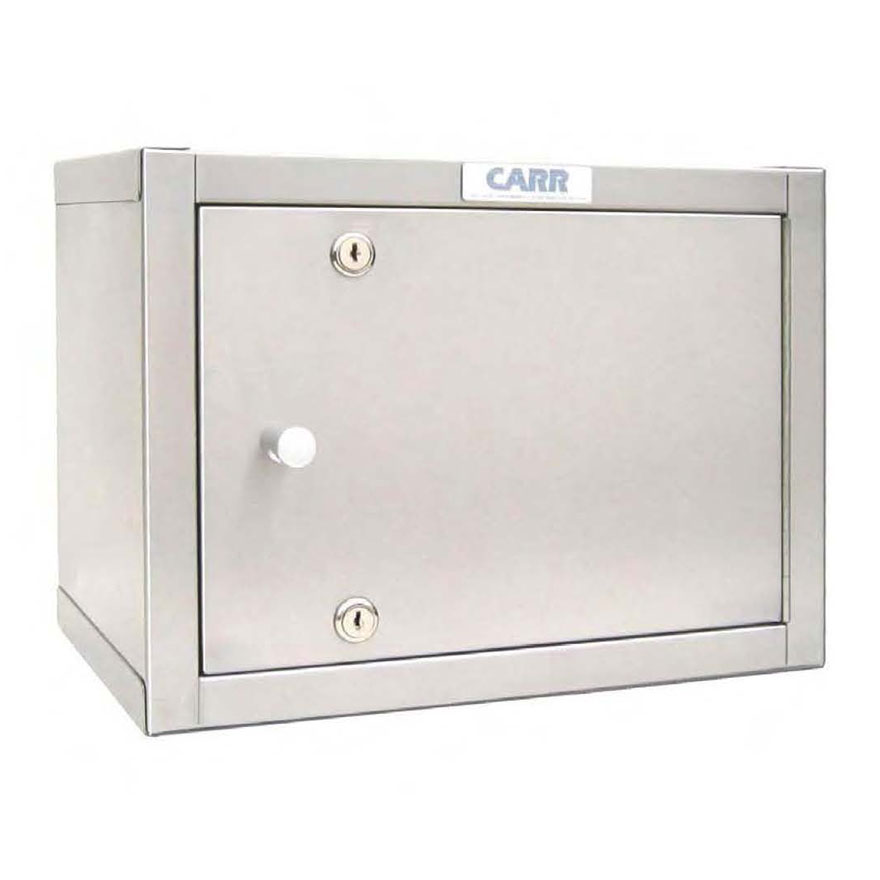 NARCOTICS SECURITY LOCKERModel NSL10 Small size, single door, double lock security cabinet.
