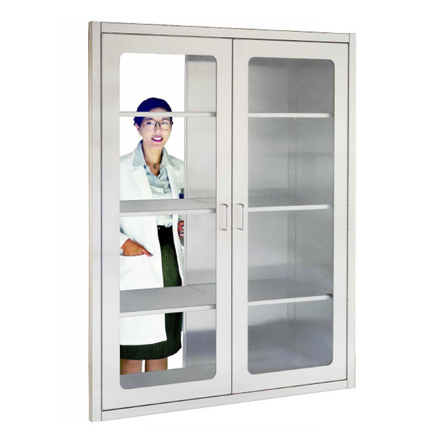 SURGICAL PASS-THROUGH CABINETS Pass supplies through wall to sterile OR environment. Many sizes.