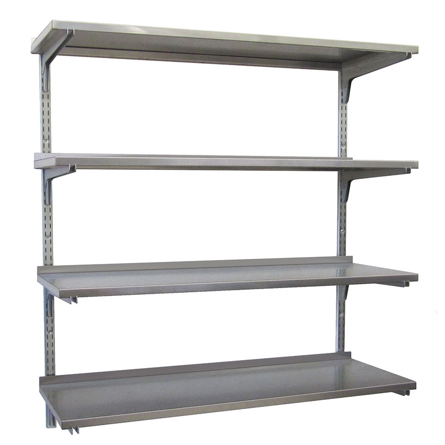 CARR SHELVING SYSTEMWall shelving designed especially for hospitals, labs and institutions.